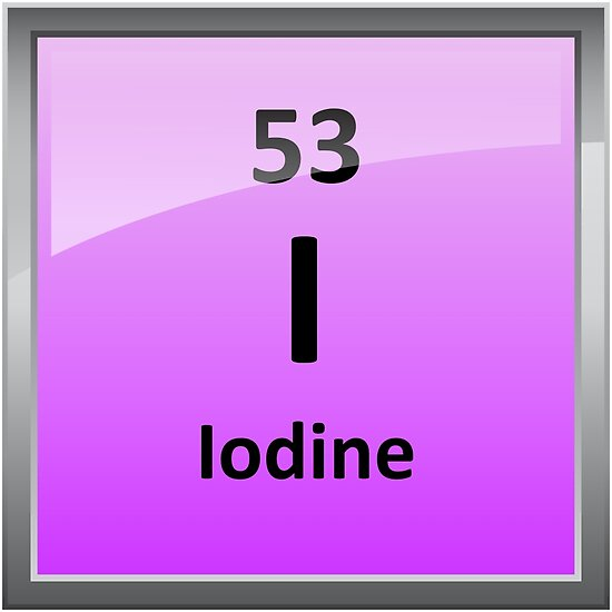 Iodine Element Symbol Periodic Table Posters By Sciencenotes