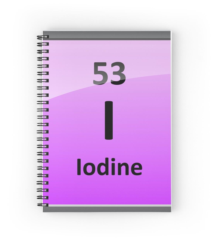 Iodine element symbol periodic table spiral notebooks by iodine element symbol periodic table by sciencenotes gamestrikefo Choice Image