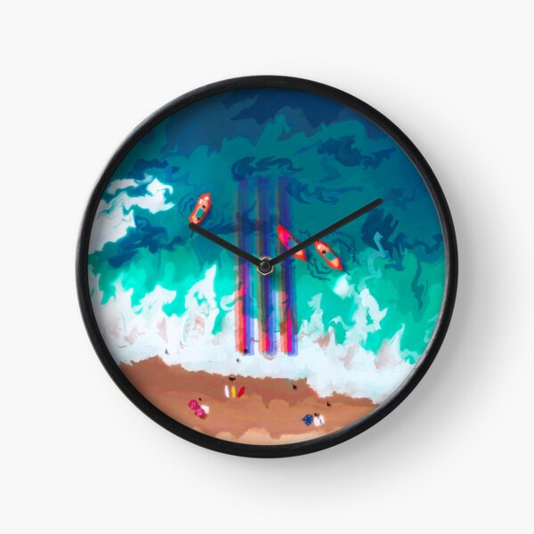 A glitch on the beach Clock