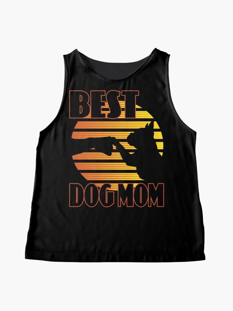 Alternative Ansicht von Tolles Hunde-Design: Best Dog Mom Fist Bump, Hund und Frauchen im Retro-Sonnenuntergang // Gelb Orange Ärmelloses Top