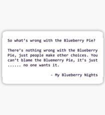 My Blueberry Nights  Sticker