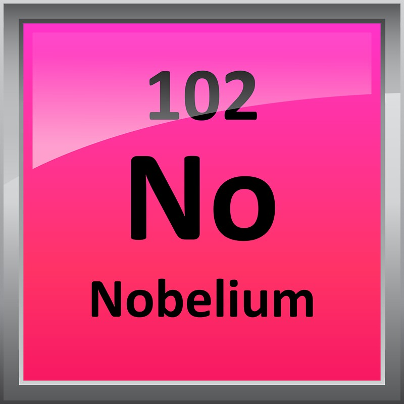 Nobelium element symbol periodic table stickers by for Periodic table no 52