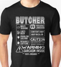 Butcher - Butcher Warning Unisex T-Shirt