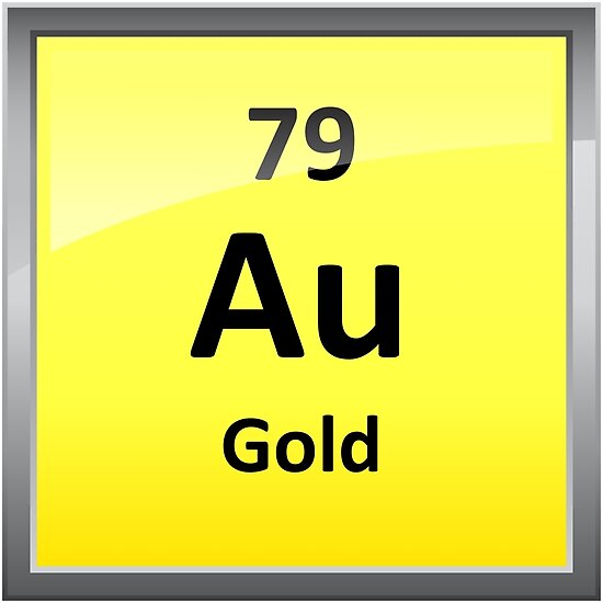 Gold Chemical Element Symbol Periodic Table Posters By