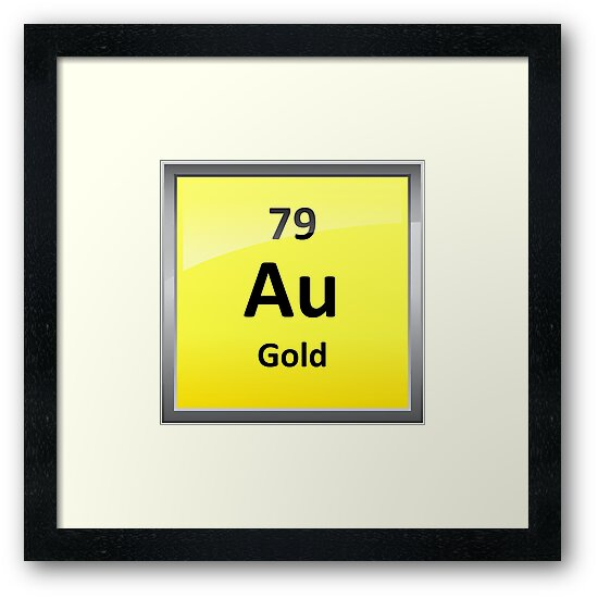 Gold chemical element symbol periodic table framed prints by gold chemical element symbol periodic table by sciencenotes urtaz