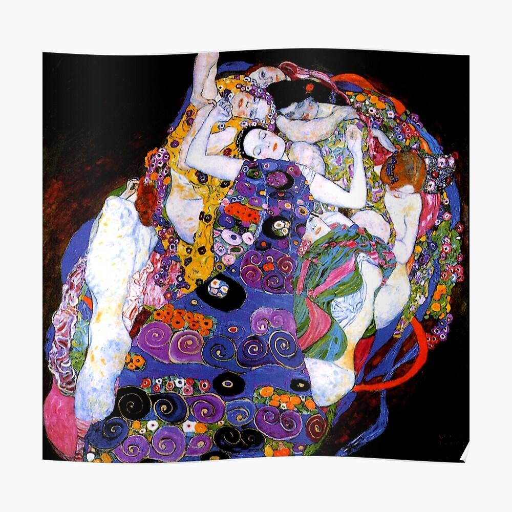 Die Jungfrau von Gustav Klimt Fine Art Poster