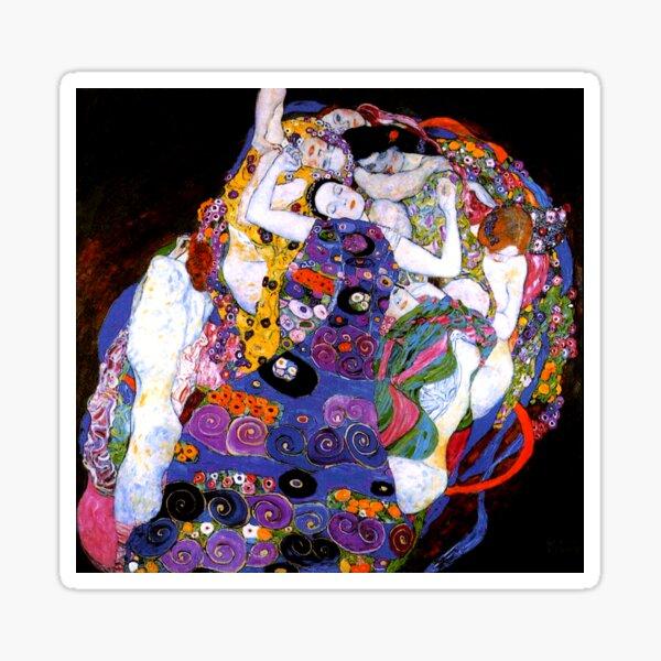 The Virgin by Gustav Klimt Fine Art  Sticker
