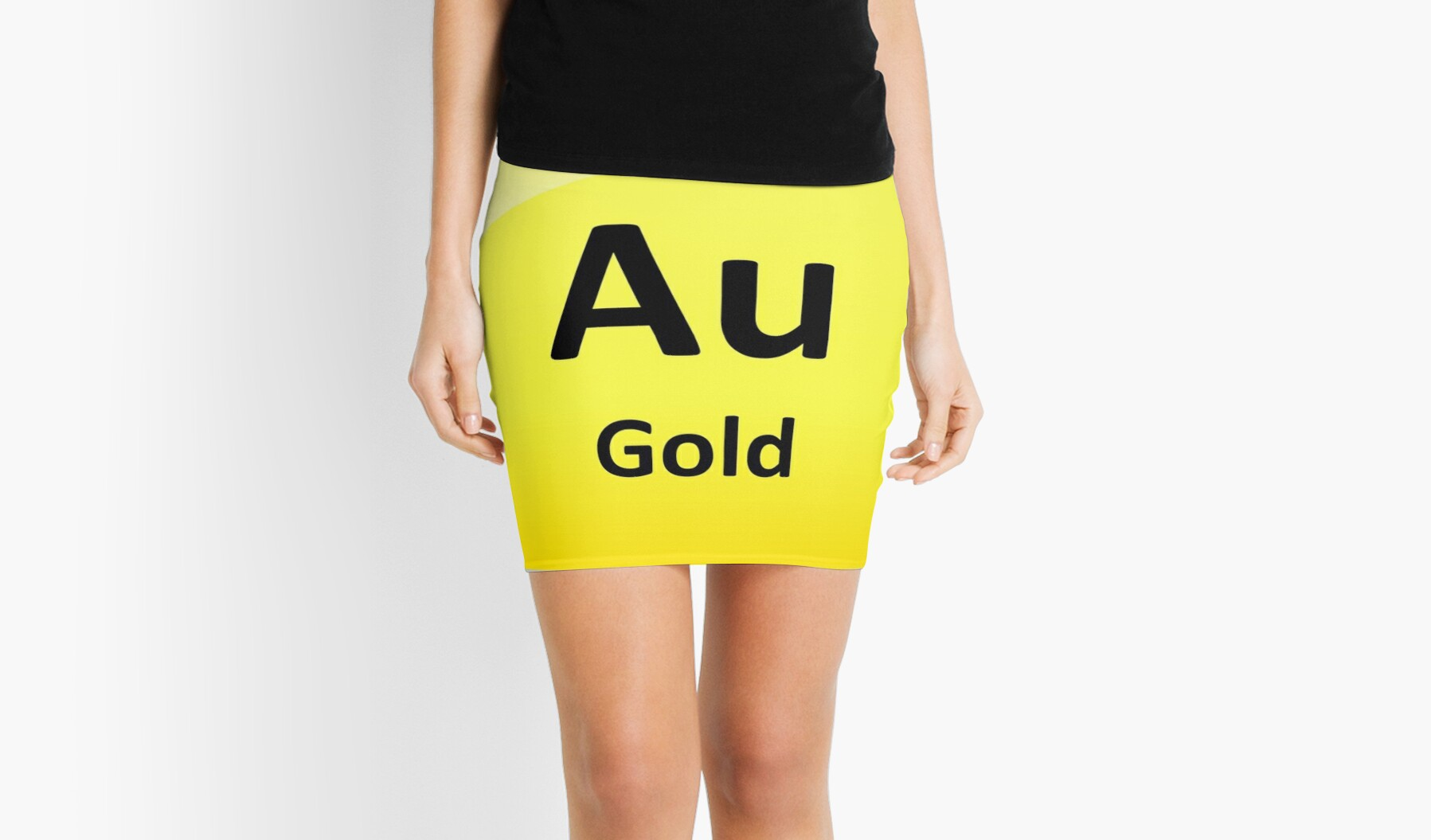 Gold chemical element symbol periodic table mini skirts by gold chemical element symbol periodic table by sciencenotes biocorpaavc