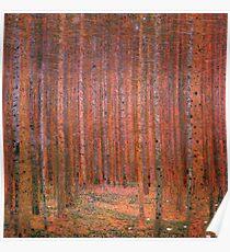 Tannenwald I by Gustav Klimt Fine Art Poster