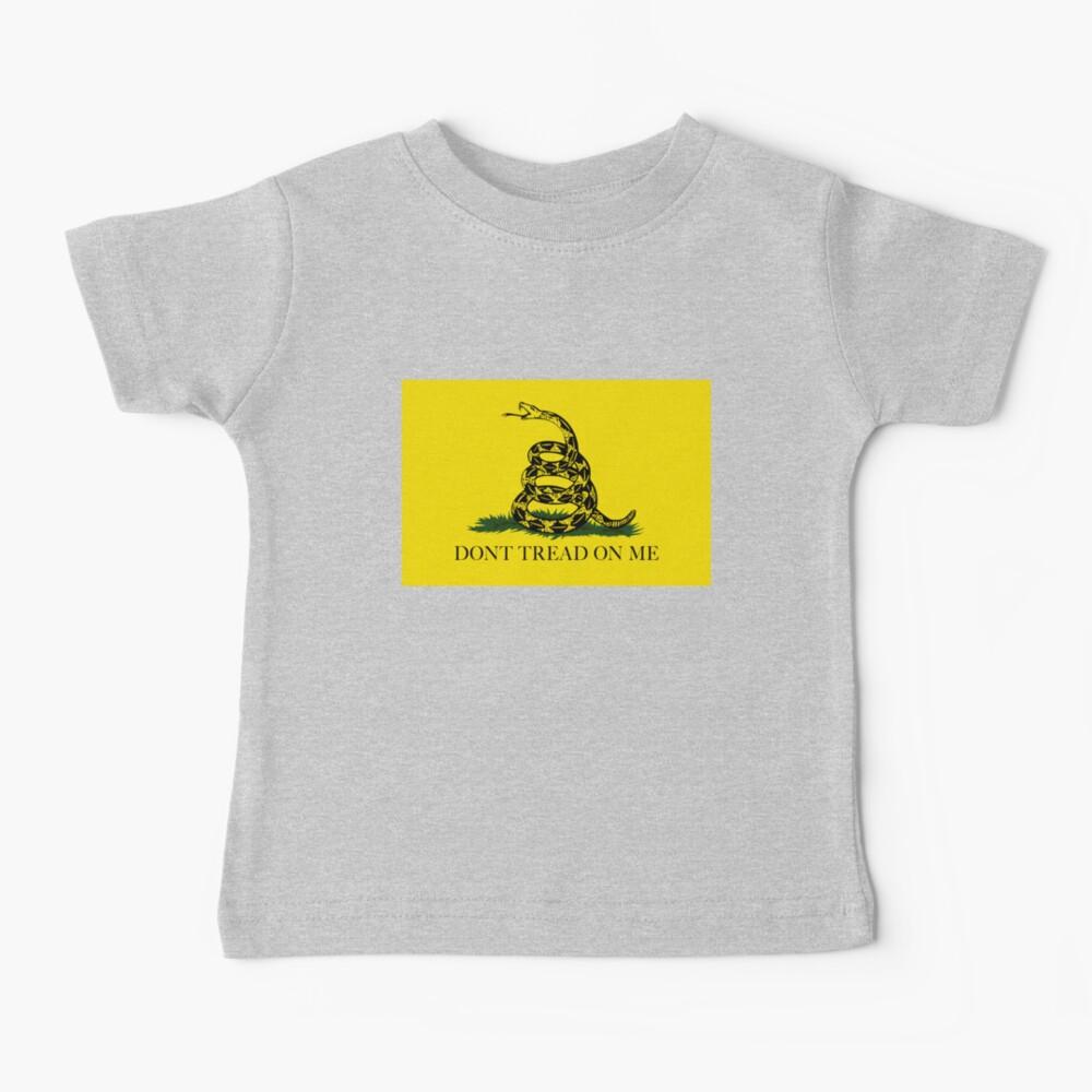 La bandera de Gadsden Do not Tread On Me - Versión auténtica Camiseta para bebés