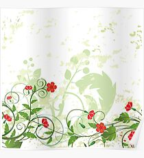 Flowers Art Abstract Poster