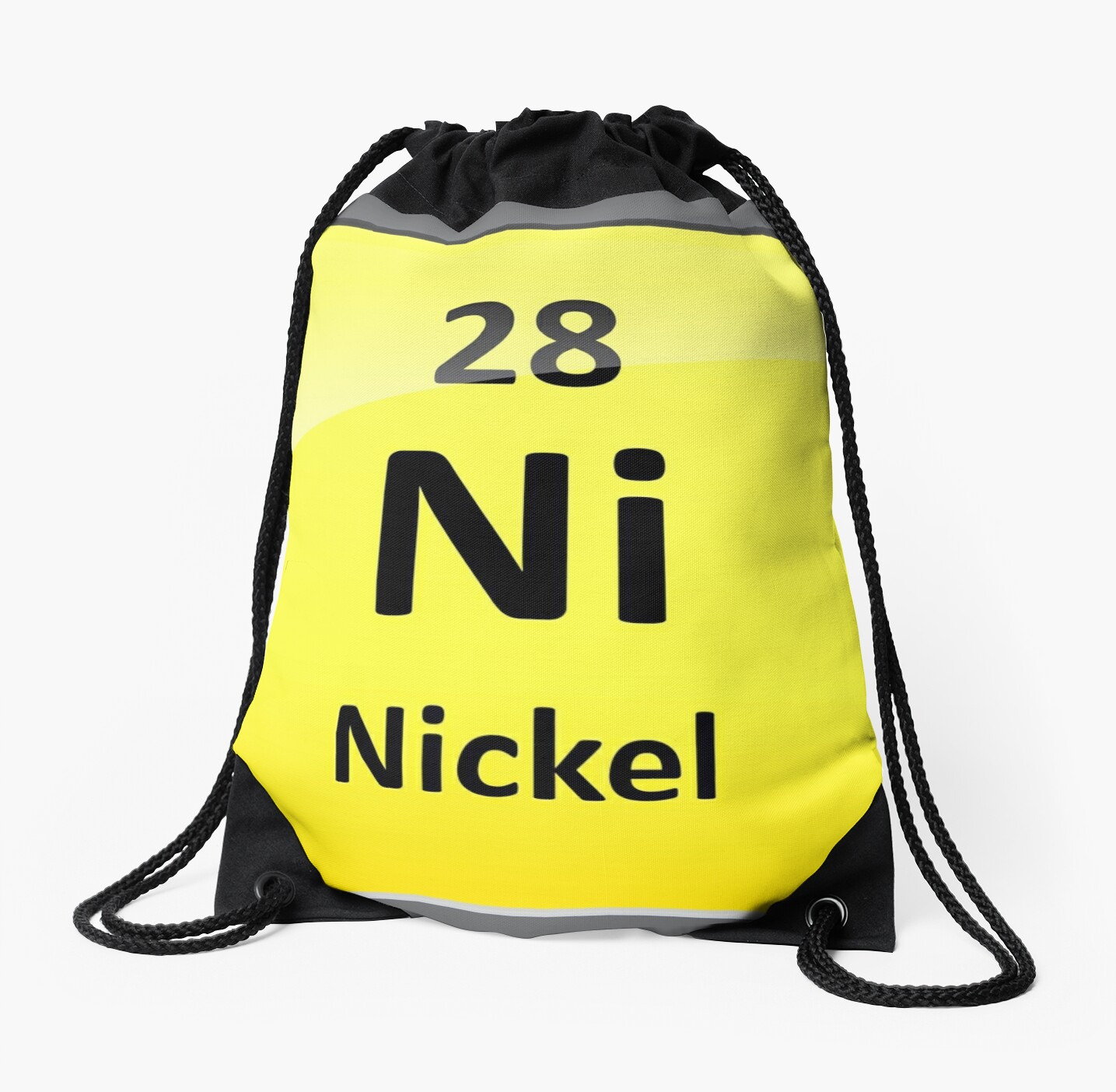 Nickel Element Symbol Periodic Table Drawstring Bags By