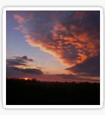 Beautiful Cloudy Sunset Sticker