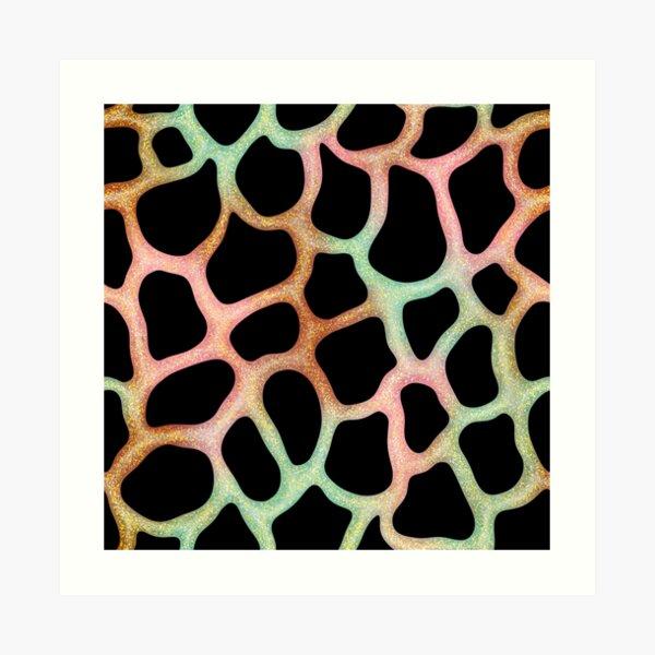 Orange Green Pink Glitter Slime  Art Print