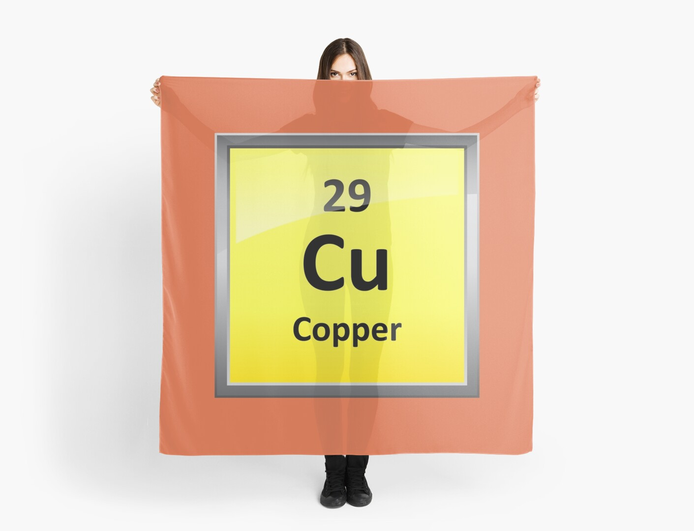Copper element symbol periodic table scarves by sciencenotes copper element symbol periodic table by sciencenotes biocorpaavc Choice Image