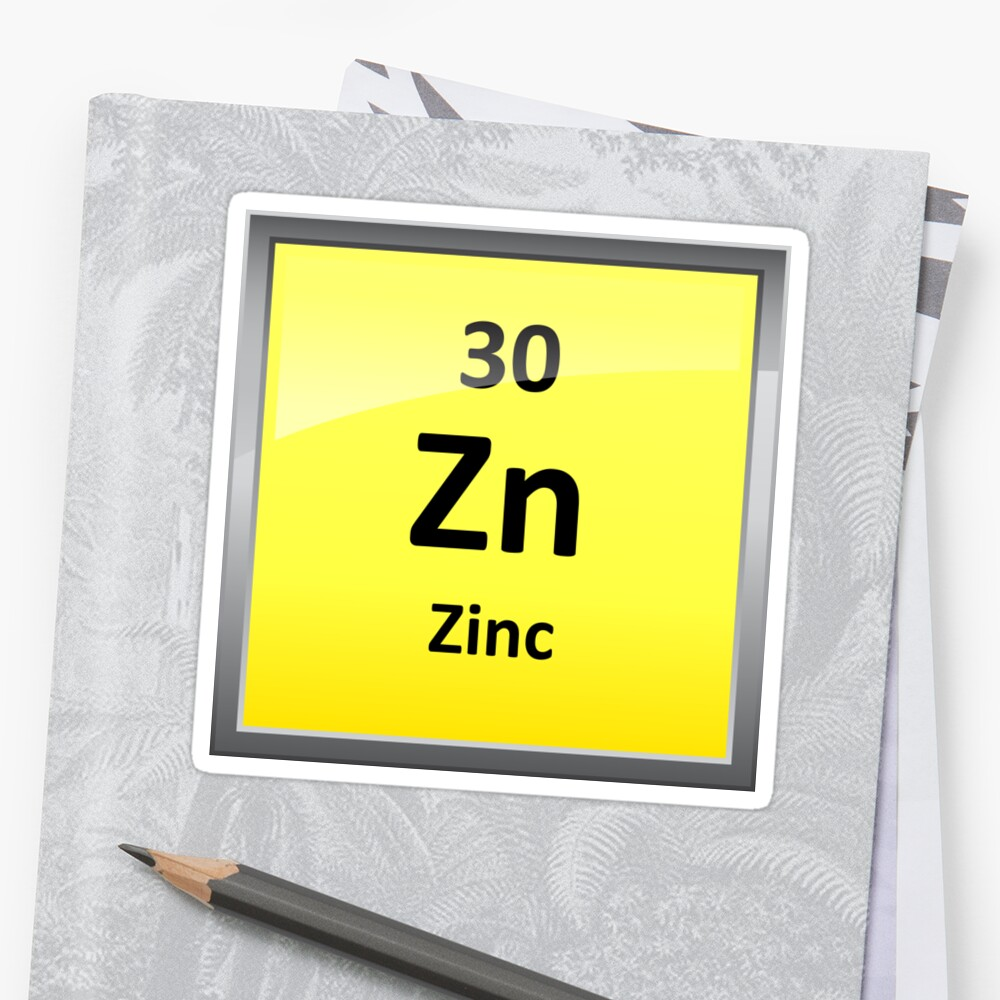 Pegatinas smbolo del elemento de zinc tabla peridica de smbolo del elemento de zinc tabla peridica de sciencenotes urtaz Images