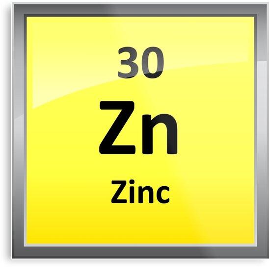 Zinc Element Symbol Periodic Table Metal Prints By Sciencenotes