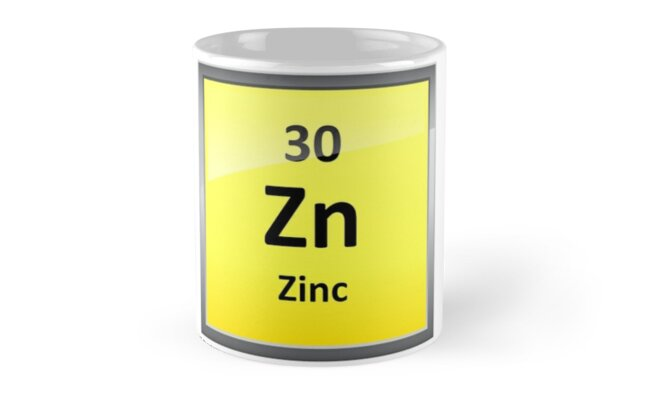 Zinc Element Symbol Periodic Table Mugs By Sciencenotes Redbubble