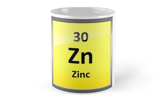 Tazas smbolo del elemento de zinc tabla peridica de smbolo del elemento de zinc tabla peridica de sciencenotes urtaz Images