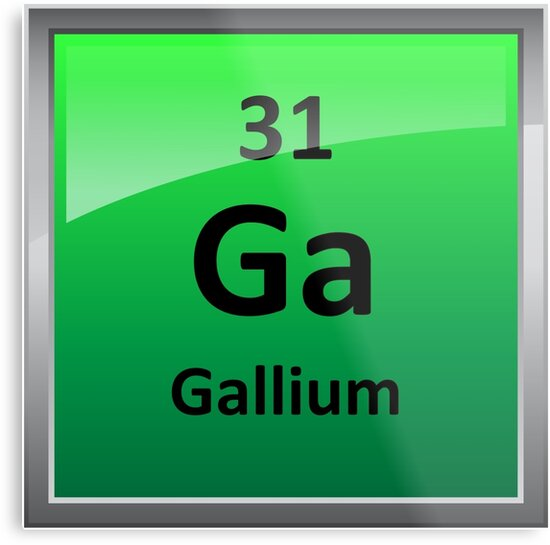 Gallium Element Symbol Periodic Table Metal Prints By
