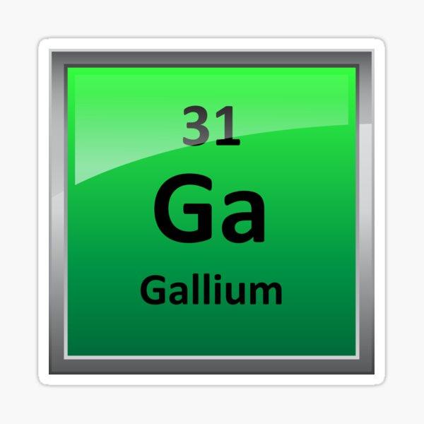 Gallium Element Symbol - Periodic Table Sticker