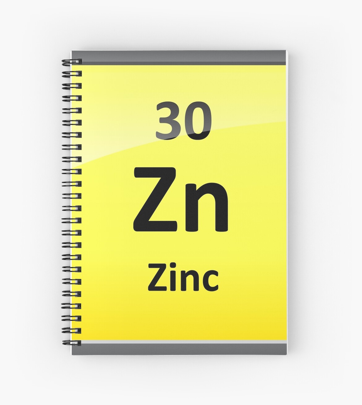 Zinc Element Symbol Periodic Table Spiral Notebooks By