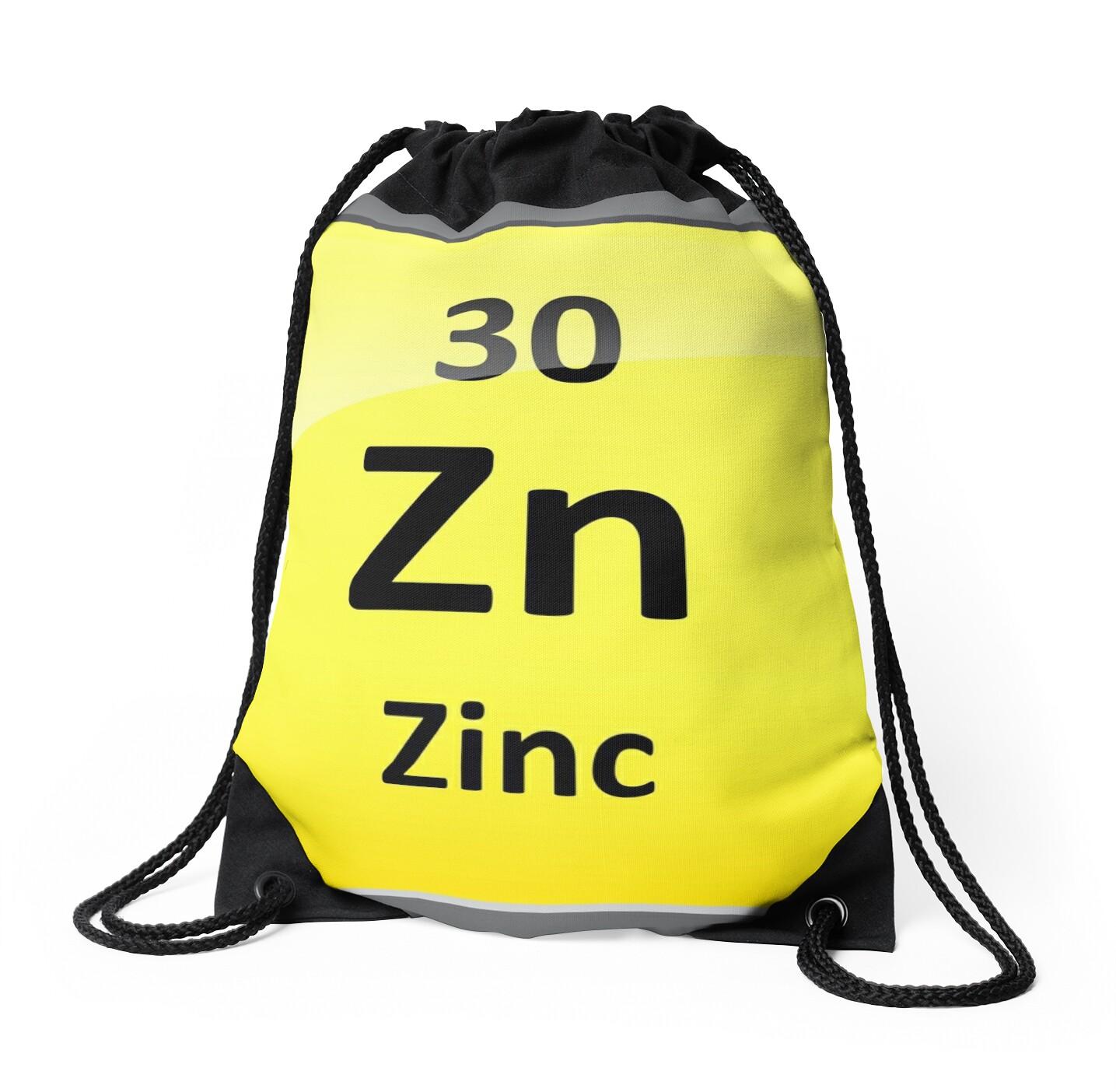 Zinc element symbol periodic table drawstring bags by zinc element symbol periodic table by sciencenotes buycottarizona Gallery