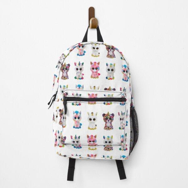 Cute beanie boo unicorns together for kids Backpack