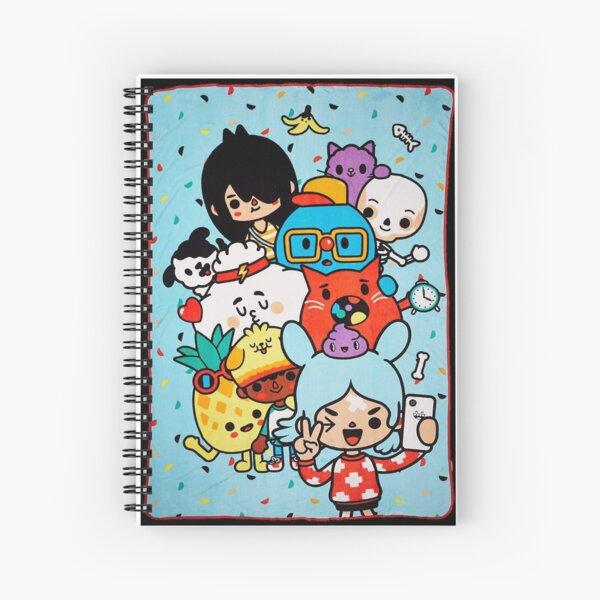 Toca boca life kids happy  Spiral Notebook