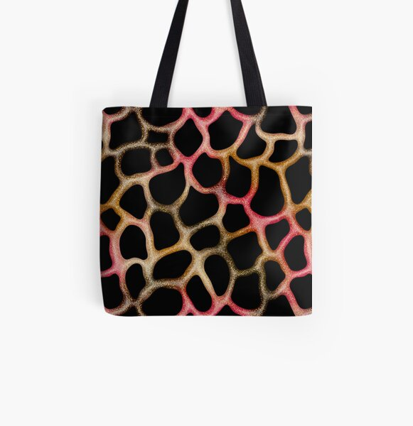 Red Gold  Glitter Slime  All Over Print Tote Bag