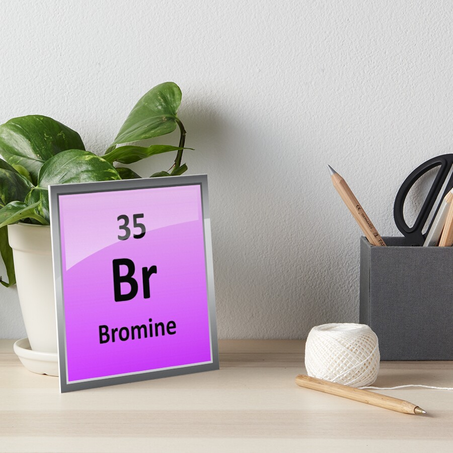 Bromine element symbol periodic table art boards by bromine element symbol periodic table by sciencenotes biocorpaavc