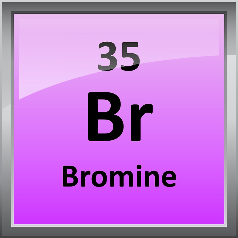Bromine element symbol periodic table stickers by sciencenotes bromine element symbol periodic table by sciencenotes urtaz Images
