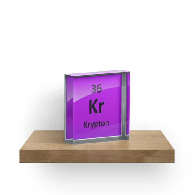 Krypton Element Symbol Periodic Table Acrylic Blocks By