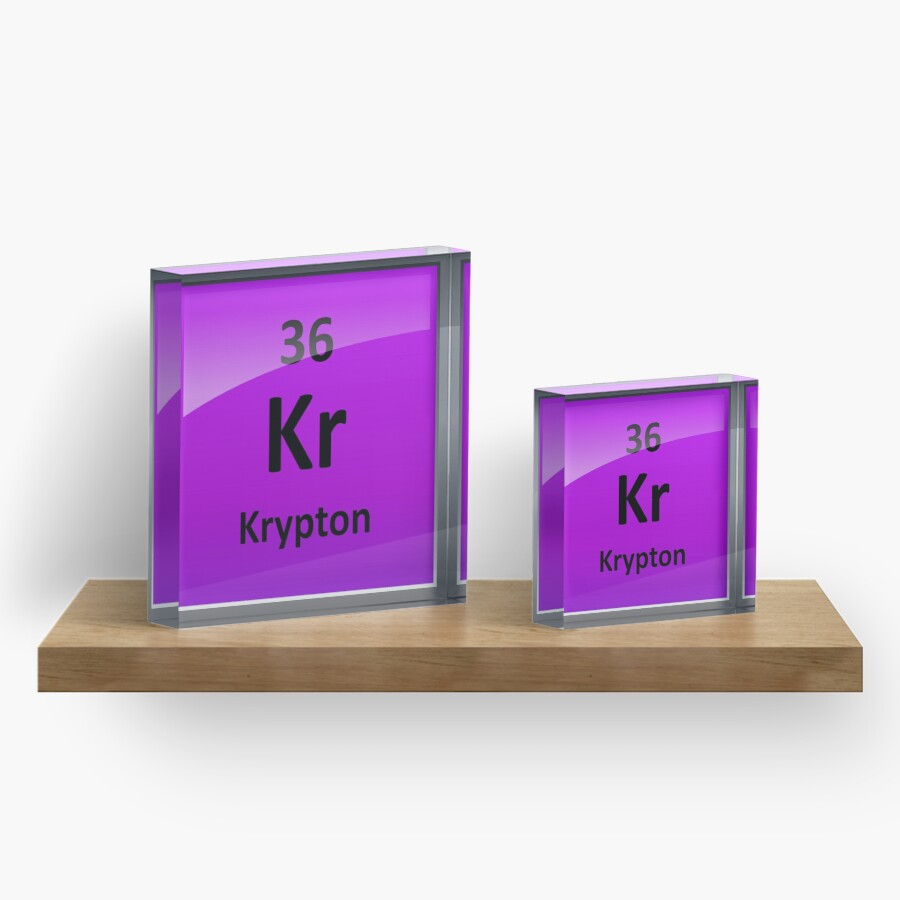 Krypton element symbol periodic table acrylic blocks by krypton element symbol periodic table buycottarizona