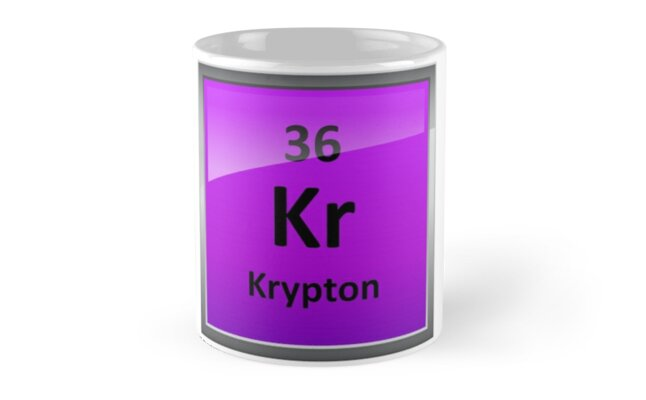 Krypton Element Symbol Periodic Table Mugs By Sciencenotes