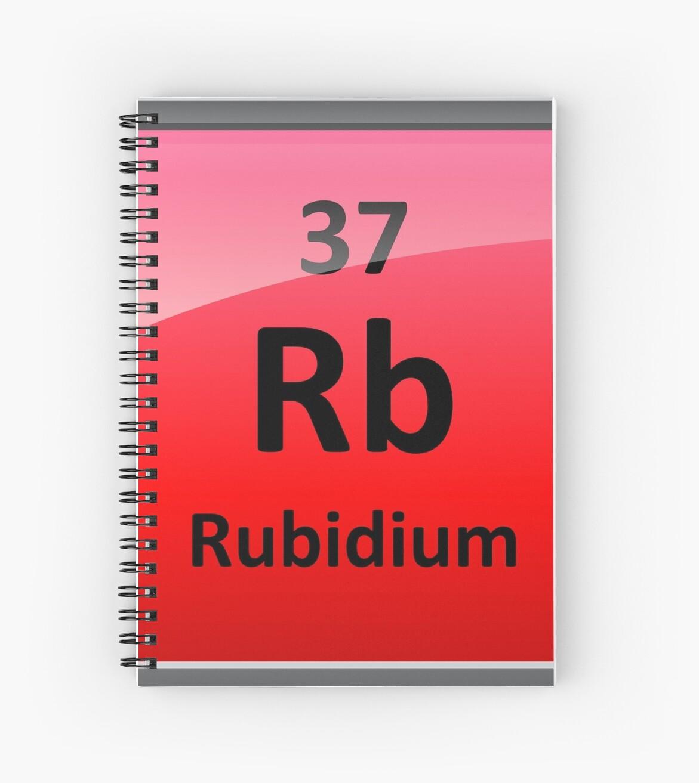 Rubidium Element Symbol Periodic Table Spiral Notebooks By