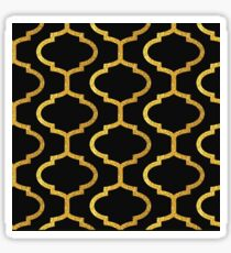 Gold mughal lattice Pattern Sticker