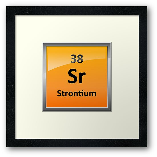 Strontium Element Symbol Periodic Table Framed Prints By