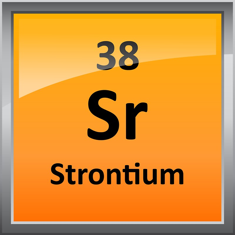 """""""Strontium Element Symbol - Periodic Table"""" Stickers by ..."""