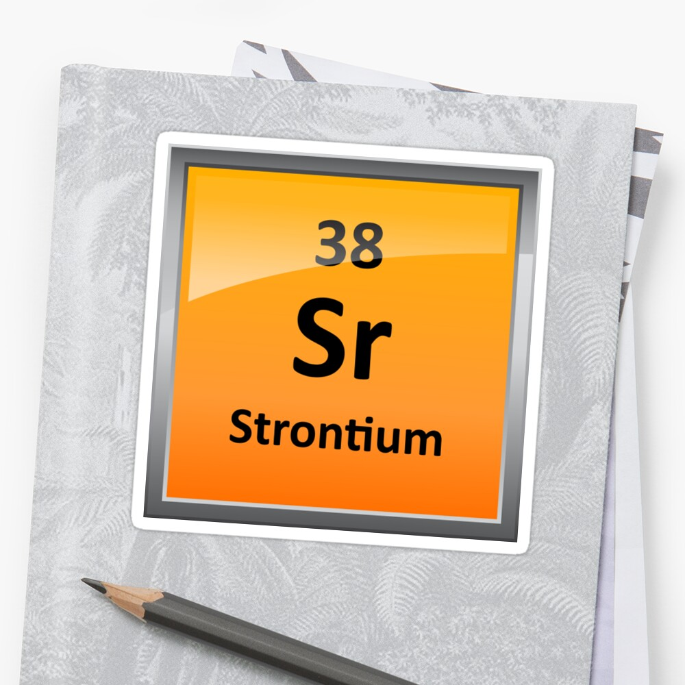 """Strontium Element Symbol - Periodic Table"" Stickers by ..."