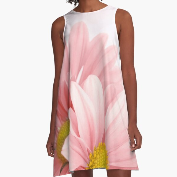 Flowers Art Abstract A-Line Dress
