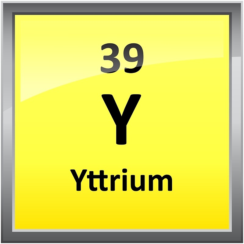 Yttrium element symbol periodic table canvas prints by yttrium element symbol periodic table by sciencenotes urtaz Images