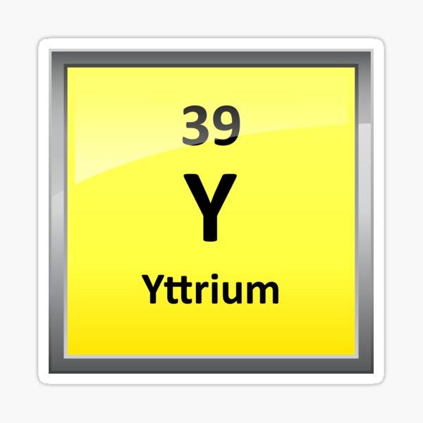 Yttrium Element Symbol - Periodic Table Sticker