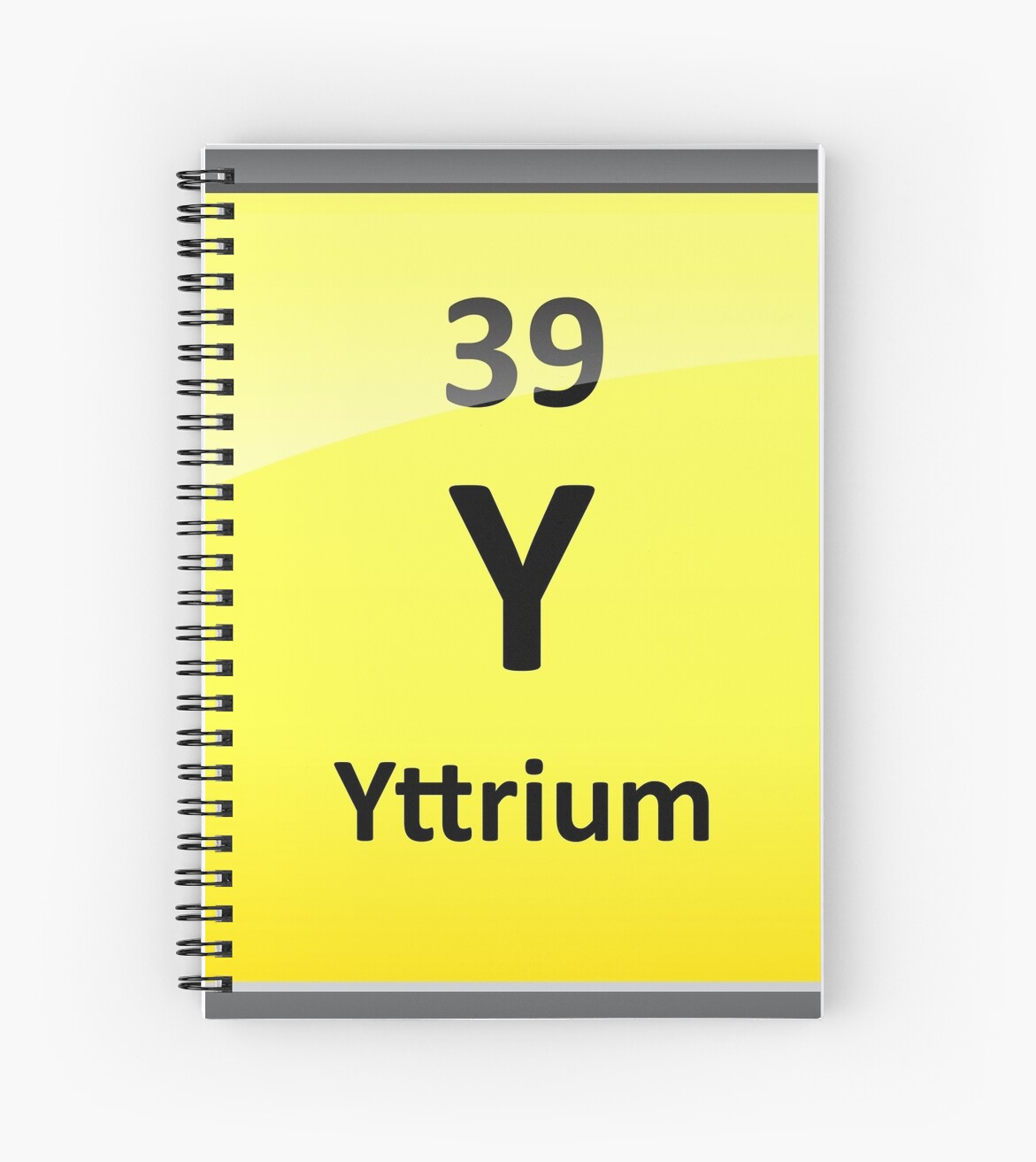 Yttrium Element Symbol Periodic Table Spiral Notebooks By