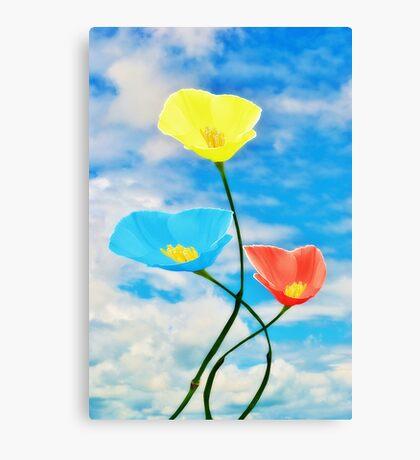 Paintbox Flowers Canvas Print