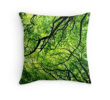 Sun through the Branches Throw Pillow