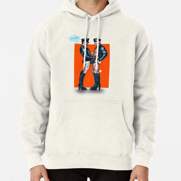 Leather men no trousers Pullover Hoodie