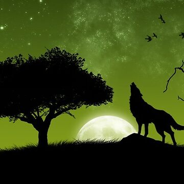 Howling Silhouette  by cogtees