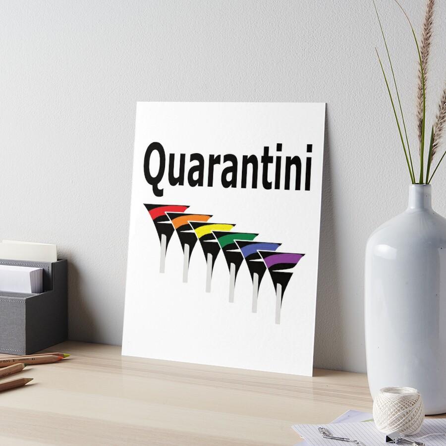 LGBT Quarantini Art Board Print