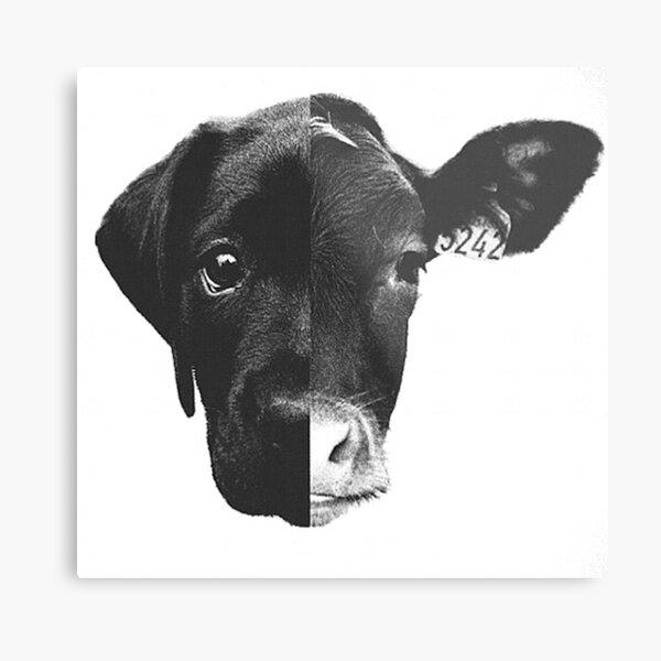Animal Equality - (Black & White) Metal Print